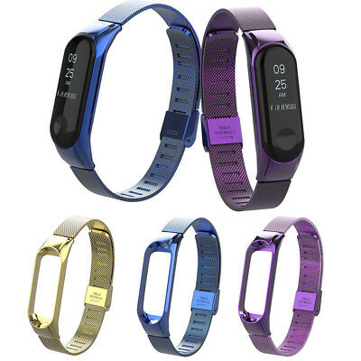 For Xiaomi Mi Band 3 Watch Milanese Magnetic Loop Wrist Strap Metal Wristband US