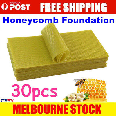 30 Honeycomb Wax Frames Beekeeping Foundation Honey Hive Equipment Bee comb