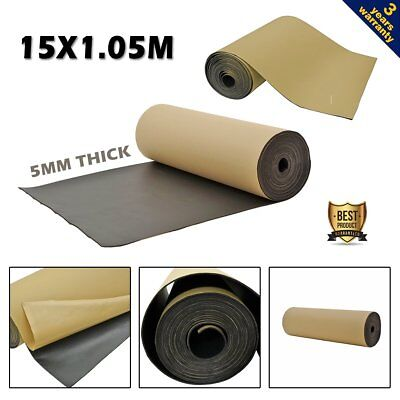 15M Thermal Closed Cell XPE Foam Insulation 5mm Car Sound Proofing Self Adhesive