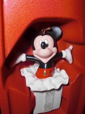 LENOX Disney MICKEY MOUSE Mickey's Surprise Gift Ornament (NEW**CUTE***L@@K) $60