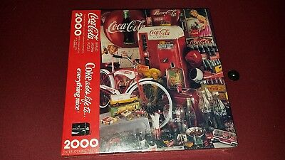 Sealed Coca Cola Jigsaw Puzzle 2000 Piece 1991 Coke Adds Life To Everything Nice