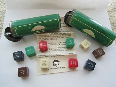 2 Sets Vintage Bakelite Dice Galloping Golf STYLE RAINY DAY Game Instructions NR