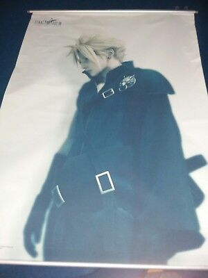 "Final Fantasy VII Advent Children - Cloth Wall Scroll Poster 28"" x 40"" - Used"