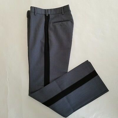 Logan Military Supply Military Academy Charcoal With Black Stripe Pants 30 X 35