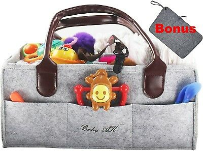 Diaper Caddy Bag with Changing Mat Nursery and Car Organiser Extra Large New