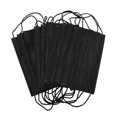 10x Disposable Anti Dust Face Mouth Mask 3 Layer Black Non Woven Mask Respirator