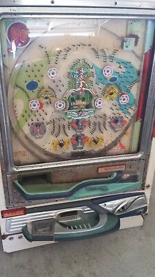 Vintage Nishijin Japan Super DX Pachinko Pinball Machine PARTS or REPAIR LOOK