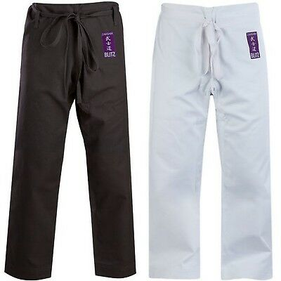 Blitz Adult Cotton Zanshin Martial Arts Trousers...Price reduced limited stock