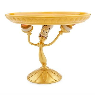 Disney Beauty and the Beast Lumiere Candlestick Cake- Plate- Pedestal New