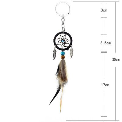Mini Feather Dream Catcher Small Hanging Car Pendant Key Ring Decoration  W