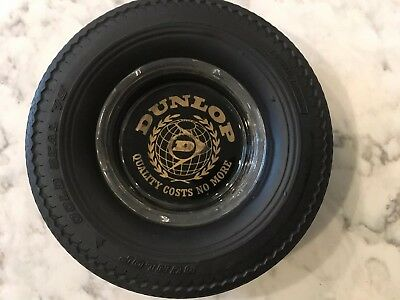 Dunlop Advertsing Tire Ashtray. Gold Seal Tire