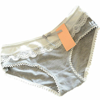 Women's Panties Butterfly Cozy Cotton Briefs Knickers  gray