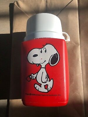 Vintage 1958 Snoopy Thermos with Cap Peanuts United Feature Syndicate
