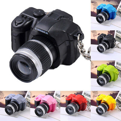 Hot Sale Camera With Flash Light Lucky Cute Charm LED Luminous Keychain New Gift
