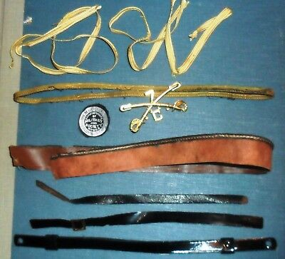 lot of misc vintage headgear items for kepi 7th cavalry and more (9 pieces)