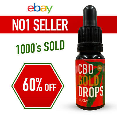 C B D 15% Extract STRONG  Natural cbd 10 ml 1500 mg ***EBAYS BEST SELLING**