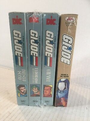 GI Joe Real American Hero VHS Tape Lot  Factory Sealed
