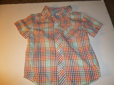 Old Navy Toddler Short Sleeve Button Shirt Size 2T Multi-Color Pre-owned