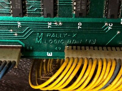 Rally-X Midway Arcade PCB board - 1980 w Harness - Tested & Working