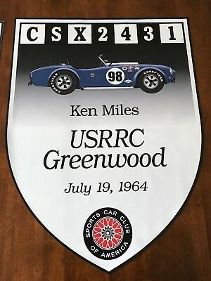 Shelby Ford 289 Cobra 1964 SCCA Race Banner