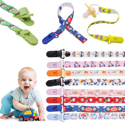 Kids Baby Boy Girl Dummy Pacifier Soother Nipple US Strap Chain Clip Holder