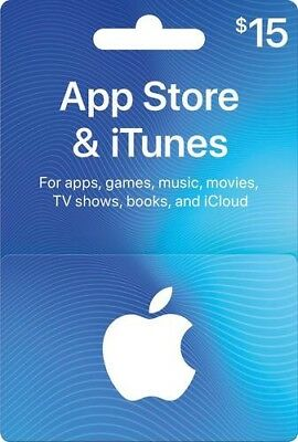 iTunes App Store gift card 15