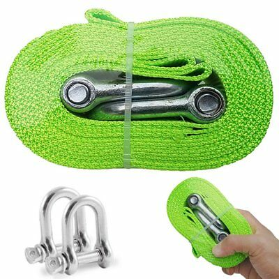 Car Tow Rope Vehicle Truck Towing Belt Up To 5 Ton 3.8 Meters Nylon Heavy Duty