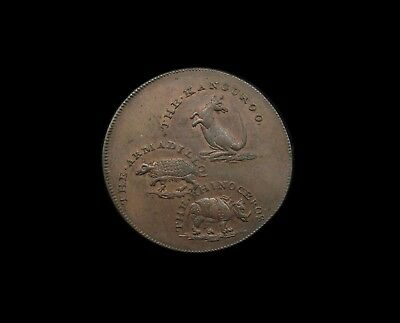 Middlesex Hall's 1795 Copper Halfpenny Token - Dh313 - Ef