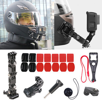 20pcs Adhesive Helmet Front Chin Mount For Gopro Hero 7 6 5 4 Black Accessories