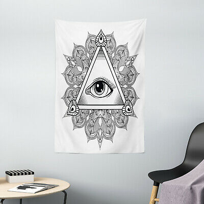 Eye Tapestry Vintage Tattoo Boho Occult Print Wall Hanging Decor