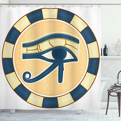 Eye Shower Curtain Egyptian Ancient Amulet Print for Bathroom