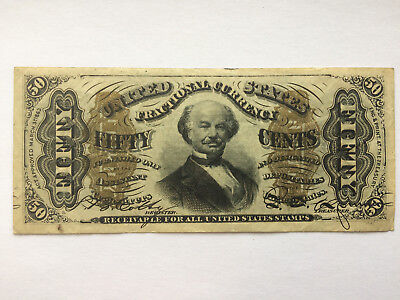 50 cent / fifty cents fractional currency 1863