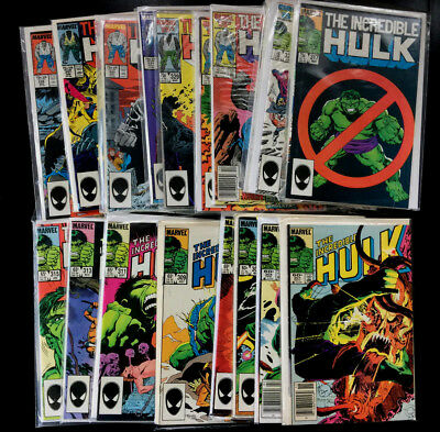Incredible Hulk Marvel 39 Comic Run 301-339 w/324 330 331 McFarlane Grey Hulk!