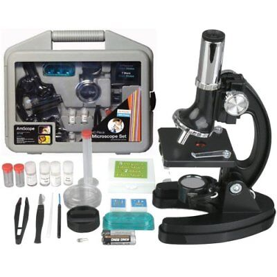 AMSCOPE-KIDS Microscope 120x-1200x 6-Powers Metal Frame & Base with 52-pc