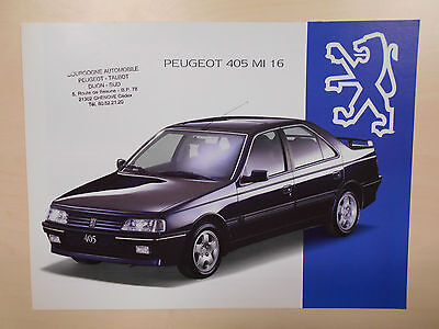 Catalogue PEUGEOT 405 MI16