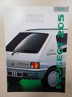 Catalogue PEUGEOT 205 GREEN
