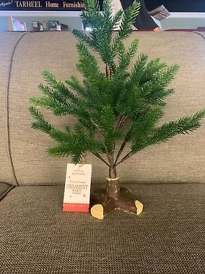 "2018 Hallmark EVERGREEN Mini Keepsake Ornament Tree 18"" Tall FREE SHIPPING IN US"