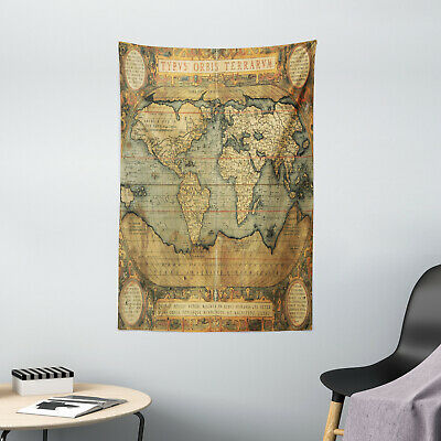 Ancient Tapestry Vintage Atlas Old Chart Print Wall Hanging Decor