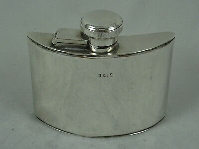 FINE solid silver HIP FLASK, 1920, 118gm