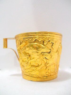 Lalaounis Greek Silver 900 Gilded Large Cup/beaker