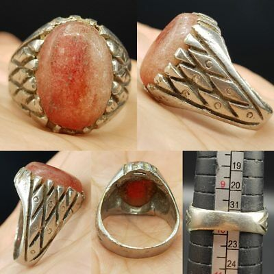 Old Agate Stone Medieval Wonderful Ring     # 7H