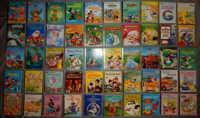 50 LITTLE GOLDEN kids picture books christmas sesame street disney vintage lot