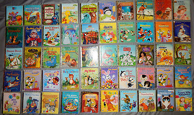 50 LITTLE GOLDEN kids picture books christmas + sesame street disney vintage lot