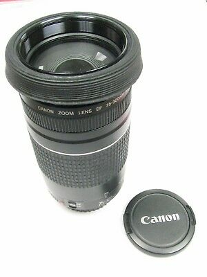 Canon EF 75-300mm f/4.5-5.6 III Camera Lens Serial # 74402234 Original Box Caps