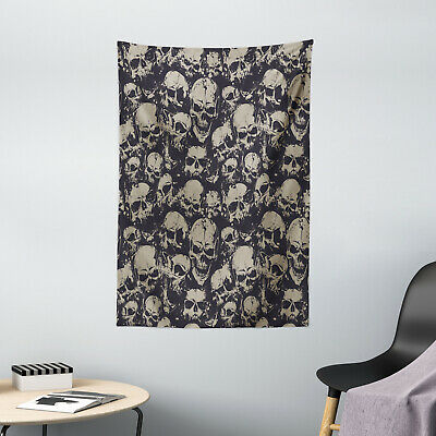 Skull Tapestry Grunge Scary Evil Print Wall Hanging Decor