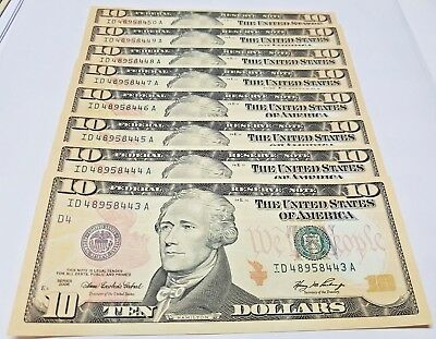 2006 $10 FRN  CLEVELAND! EIGHT Consecutive Gem-Uncirculated ** 8-Consecutive
