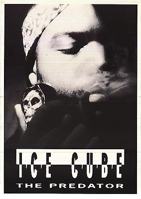 ~Ice Cube The Predator 1992 Poster Original Smoking Skull Pipe 23x35 Import NOS~