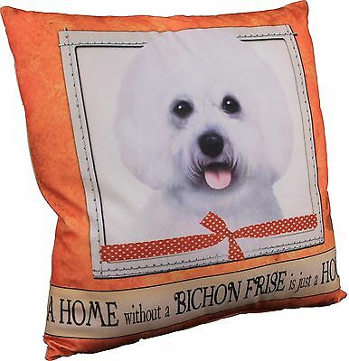 Bichon Frise Soft Couch Dog Breed Throw Pillow