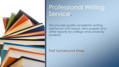 Assignment, Research Paper, Essay Writing Services. SATISFACTION GUARANTEED!