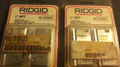 "Ridgid 37835 Pipe Threading Dies 1"" 12R NPT 11-1/2"" TPI Set of 4 USA MADE"